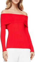 BCBGMAXAZRIA Risa Ribbed Off-the-Shoulder Sweater