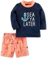 Carter's 2-Pc. Sea Rash Guard and Swim Trunks Set, Baby Boys