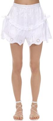 SIR the Label Delilah Ruffled Cotton Poplin Shorts