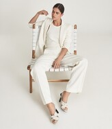 Thumbnail for your product : Reiss Phoebe - Leather Twist Front Slingbacks in Off White