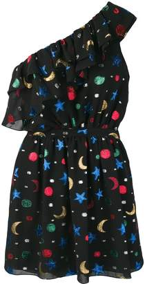 Saint Laurent embroidered stars and moons dress