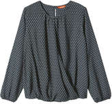 Joe Fresh Women's Faux Wrap Shirt, Blue (Size L)