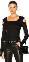 Helmut Lang Slash Long Sleeve Tee in Black.