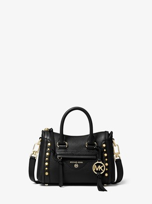 MICHAEL Michael Kors Carine Extra-Small Studded Pebbled Leather Crossbody Bag