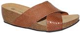Eric Michael Brown Leather Violet Sandal
