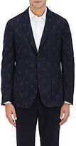 Montedoro MEN'S DOTTED WOOL-BLEND SPORTCOAT-NAVY SIZE L