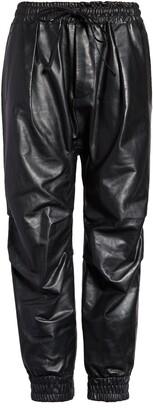 R 13 R14 Leather Crop Harem Pants