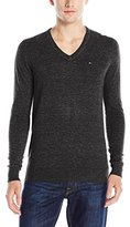 Tommy Hilfiger Men's Original Cotton Blend V-Neck Long Sleeve Sweater