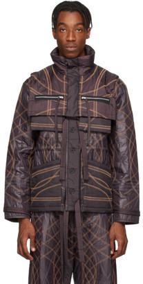 Craig Green Burgundy Embroidered Swirl Jacket