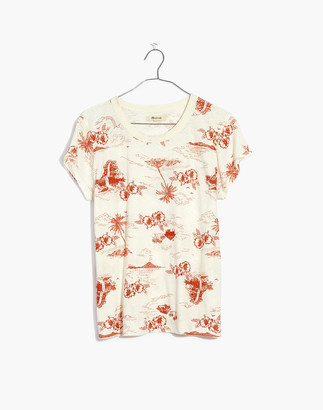 Madewell The Perfect Vintage Tee in Paradise Toile