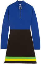 J.W.Anderson Color-block Wool Mini Dress - Blue
