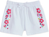 First Impressions Ruffle-Waist Floral-Graphic Cotton Shorts, Baby Girls (0-24 months), Only at Macy's