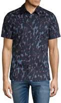 Perry Ellis Men's Camo Button-Down Shirt