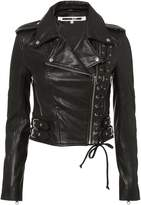 McQ Lace-Up Leather Moto Jacket