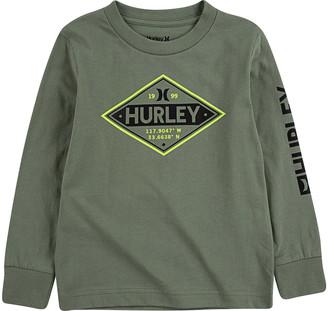 Hurley Kids' Slime Type Long Sleeve Graphic Tee