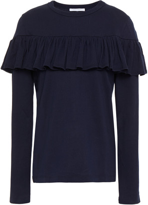 Ninety Percent Ruffled Organic Cotton-jersey Top