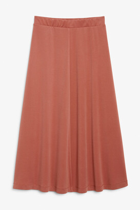Monki Super-soft midi skirt