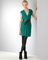 Twelfth Street by Cynthia Vincent Belted Silk Wrap Dress