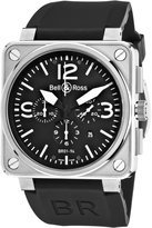 Bell & Ross Men's BR-01-94-STEEL Aviation Chronograph Dial Watch Watch