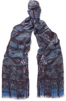 Etro - Paisley Modal And Cashmere-blend Scarf