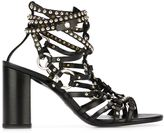 Balmain studded sandals - women - Calf Leather/Leather/Brass - 38