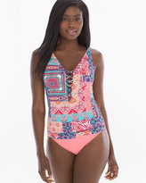 Soma Intimates Free Spirit Lattice-Front Tankini Swim Top