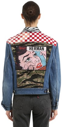 Herman Market Patchwork Cotton Denim Jacket