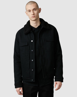 Nique Tatsuno Denim Sherpa Jacket