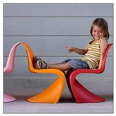 Vitra Panton Junior Chair by Vitra, color = Tangerine