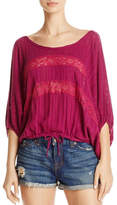 Free People Plum Lace Top