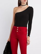 Charlotte Russe One-Shoulder Bodysuit