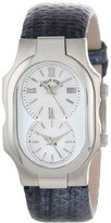 Philip Stein Teslar Women's 1-CMOP-UNM Signature Mother-Of-Pearl Dial Navy Metallic Karung Strap Watch