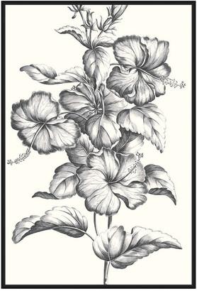 Jonathan Bass Studio Crimson Hibiscus, Decorative Framed Canvas Art