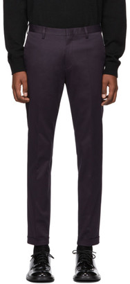 Paul Smith Purple Cotton Stretch Chino Trousers