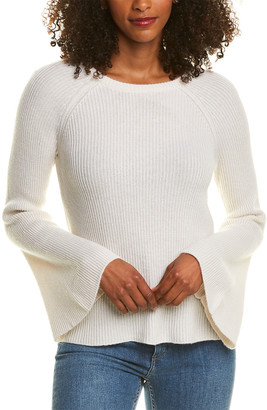 Magaschoni Bell-Sleeve Cashmere & Wool-Blend Sweater