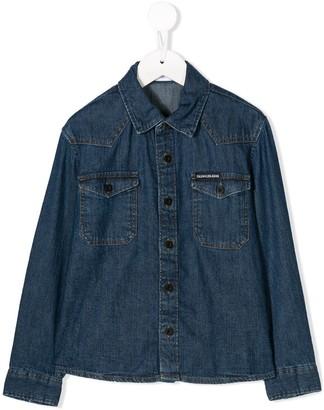 Calvin Klein Kids button denim shirt
