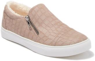 Report Abir Faux Fur Lined Croc-Embossed Sneaker
