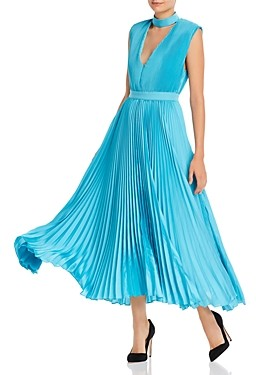 Alice + Olivia Joleen Pleated Midi Dress