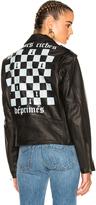 Enfants Riches Deprimes Checker Board Print Leather Jacket