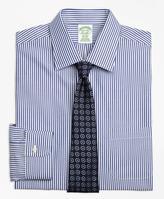 Brooks Brothers Non-Iron Milano Fit Bengal Stripe Dress Shirt