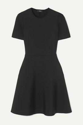 Theory Stretch-knit Mini Dress - Black