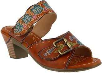 Spring Step L'Artiste by Leather Slide Sandals- Ozuna