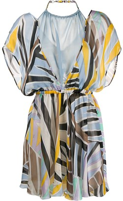 Emilio Pucci Stripe-Print Beach Cover-Up