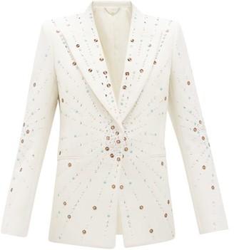 Paco Rabanne Embellished Single-breasted Wool Jacket - Ivory