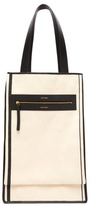 Saylor Lutz Morris Recycled Cotton-canvas Tote Bag - Womens - Cream Multi