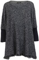Anne Claire Anneclaire Frayed Sweater