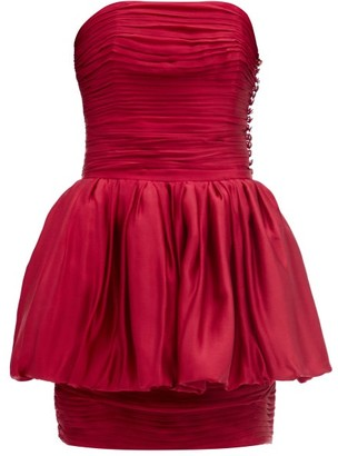 Alexandre Vauthier Layered Silk-satin Mini Dress - Red