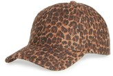 David & Young Women's Leopard Print Ball Cap - Brown