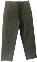 DEPARTMENT 5 Green Cotton Trousers for Women