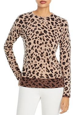 Chelsea & Theodore Leopard Print Cashmere Sweater (64% off) Comparable value $248